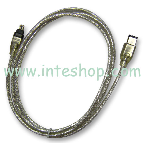Picture of IEEE 1394 Cable - 6 Pin to 4 Pin
