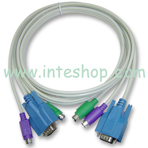 Picture of 3 in 1 KVM Cable - Male to Male