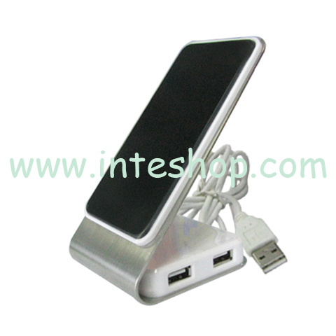 Picture of Rotatable Cell Phone Holder USB 2.0 Hub