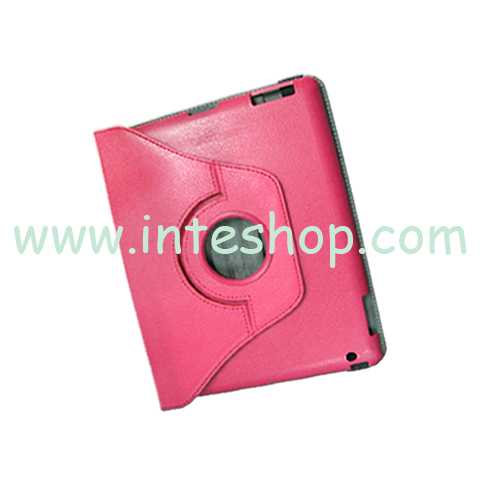 Picture of Protective Leather Case and Swivel Stand for iPad 3