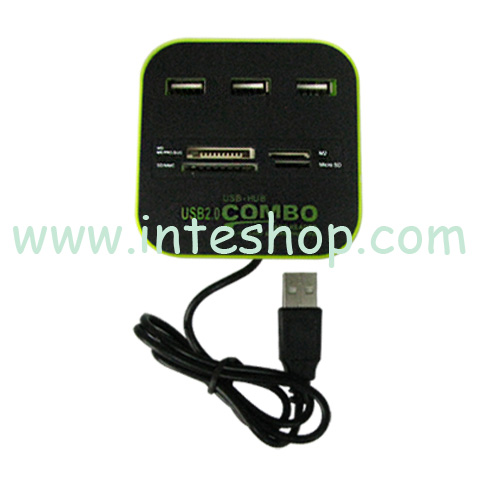 Picture of USB 2.0 Hub and Card Reader Combo Box