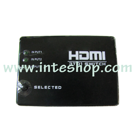 Picture of 3 In to 1 Out HDMI Switch Box with Remote Control
